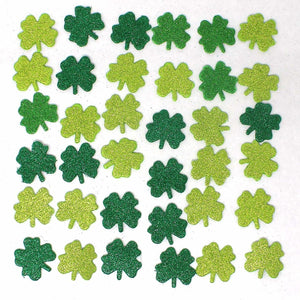 St. Patrick Party Decoration Set with Shamrock Clings and Cutouts