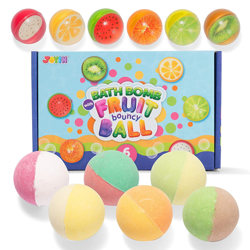 Bath Bombs for Kids with Fruit Bouncy Balls