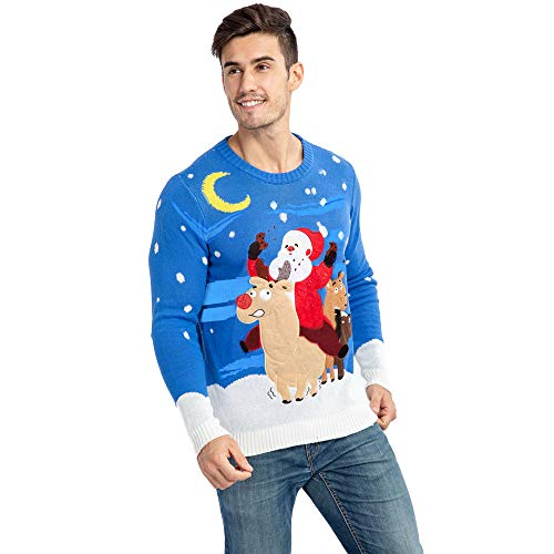 Men's Christmas Ugly Sweater Funny Reindeer
