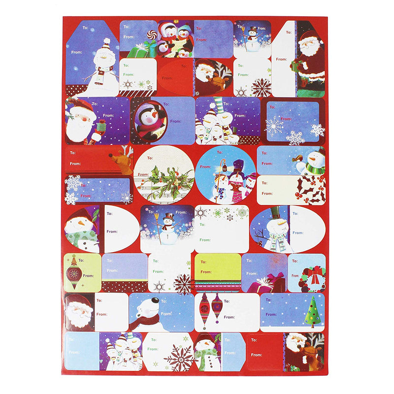 CHRISTMAS GIFT TAG STICKERS