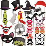 Halloween Party Favor Photo Booth Props, 30-Piece Set