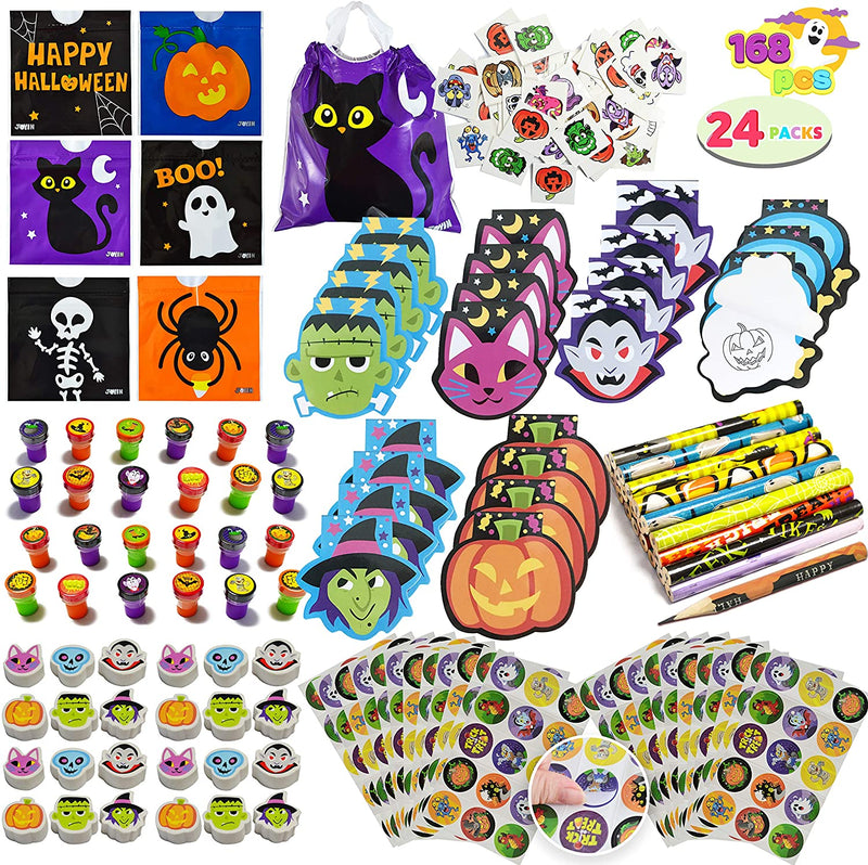 168 Pcs Pack Assorted Halloween Art and Craft