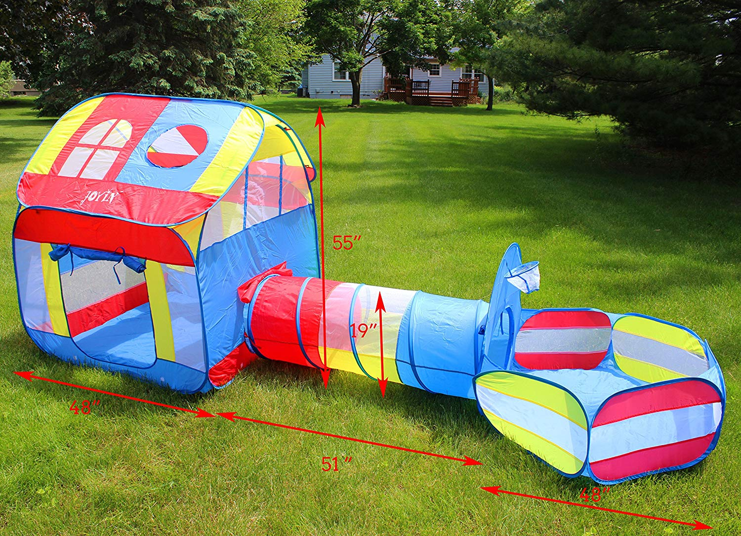 JOYIN 8 in 1 Pop-up Play Tents and Tunnels