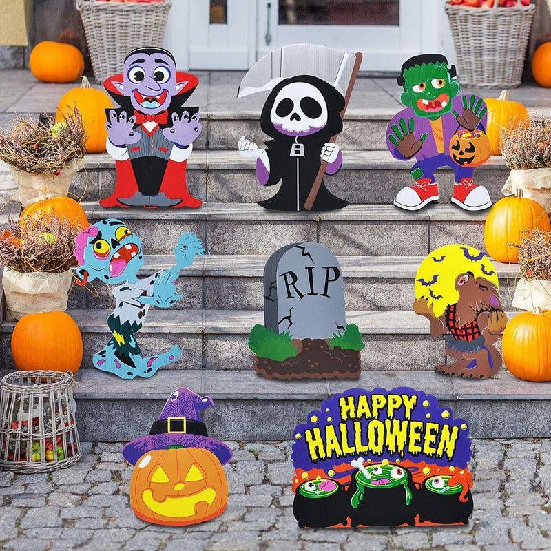 Cute Halloween Yard Sign, 8 Pcs