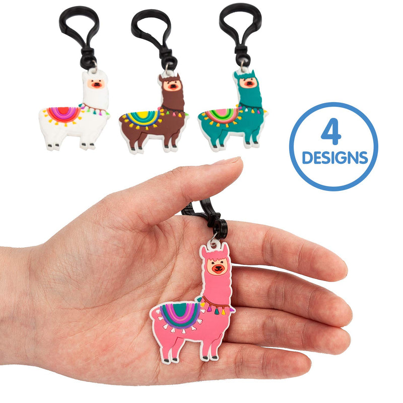 28 Pcs Valentine Cards with Llama Keychain