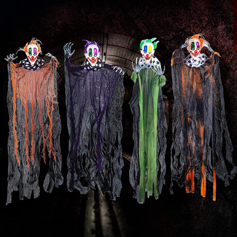 Hanging Clowns, 4 Pack