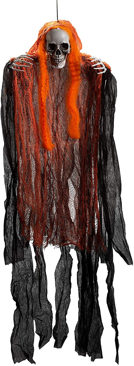 "43"" Pack Hanging Grim Reapers with Hair, 3 Pack"