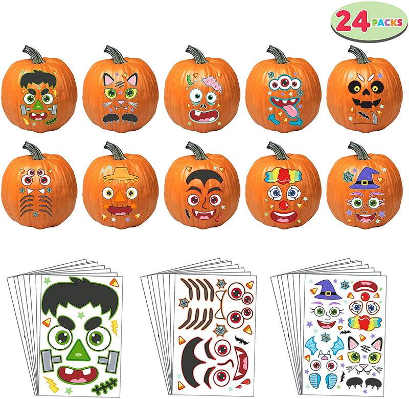 Characters Face Pumpkin Stickers