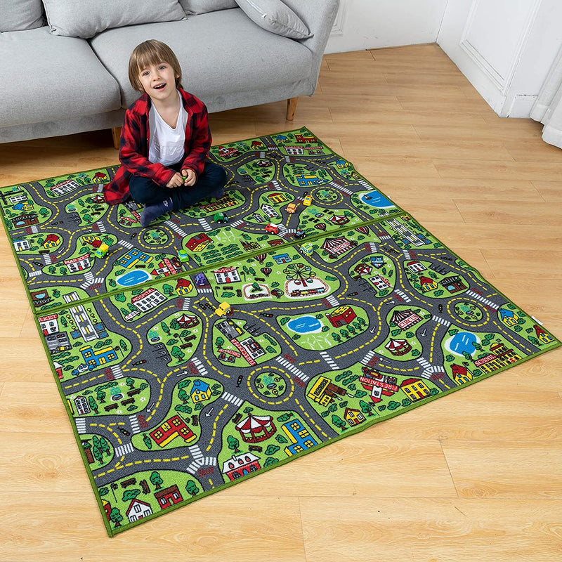 Joyin Playmat City Life Carpet Playmat, 2 Pack
