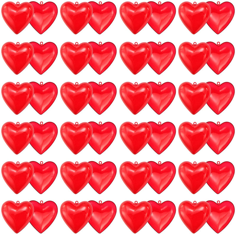 24 Packs Valentines Day Prefilled Hearts with Dinosaur Building Blocks