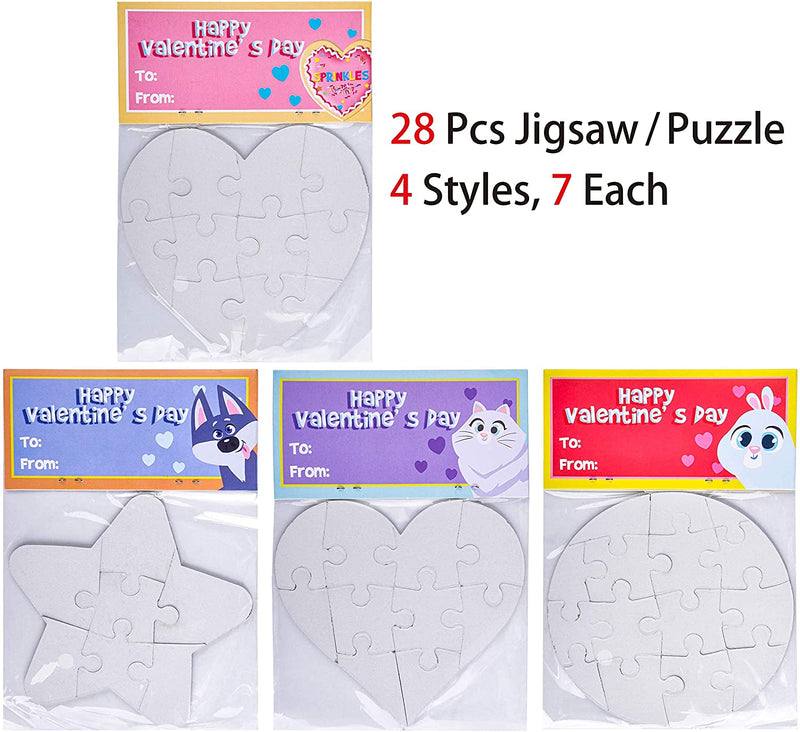 Jigsaw with Card Headers, 28 Packs
