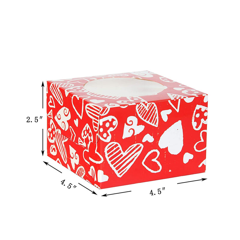 24 Valentines Day Cupcake Bakery Treat Boxes
