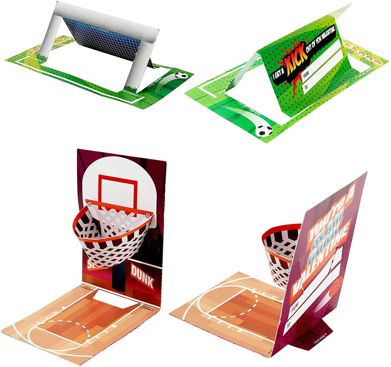 Valentine Sports Game Card and Erasers