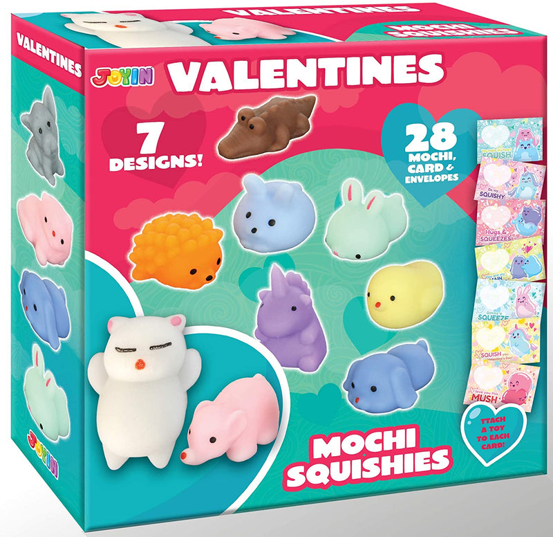28 Pcs Cute Valentines Day Gift Cards for Kids