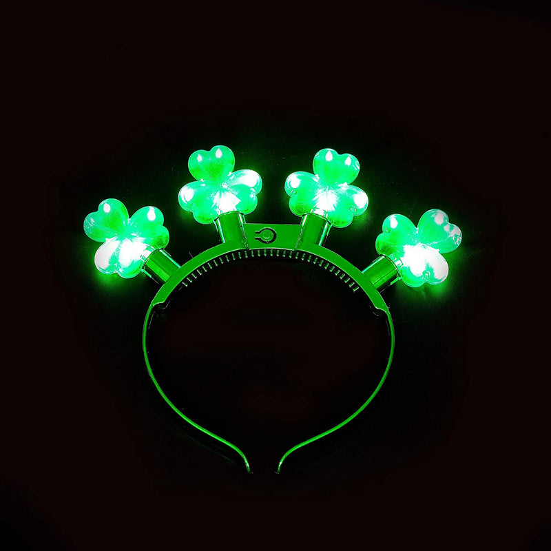 3 Pcs St Patrick's Day Shamrock Headbands