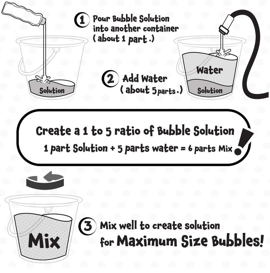 Giant Bubble Wands with 2 Refill Solution