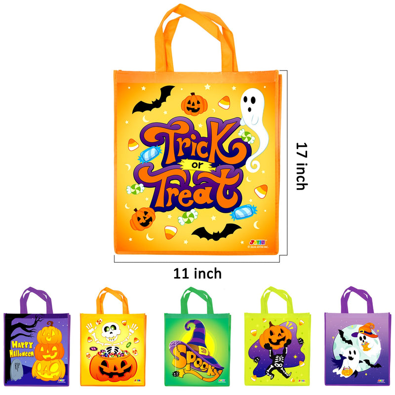 12 Halloween Large Treat Goody Tote Bags