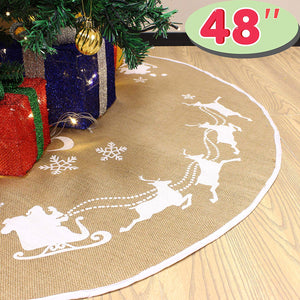 Christmas Burlap Tree Skirt