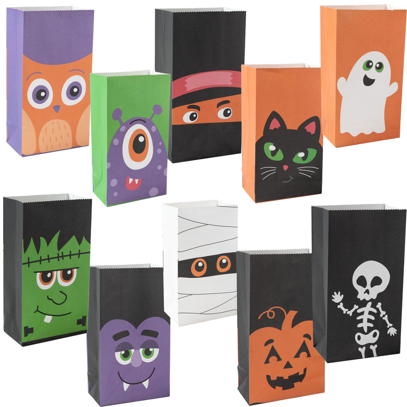 60 PCs Halloween Characters Paper Treat Bags