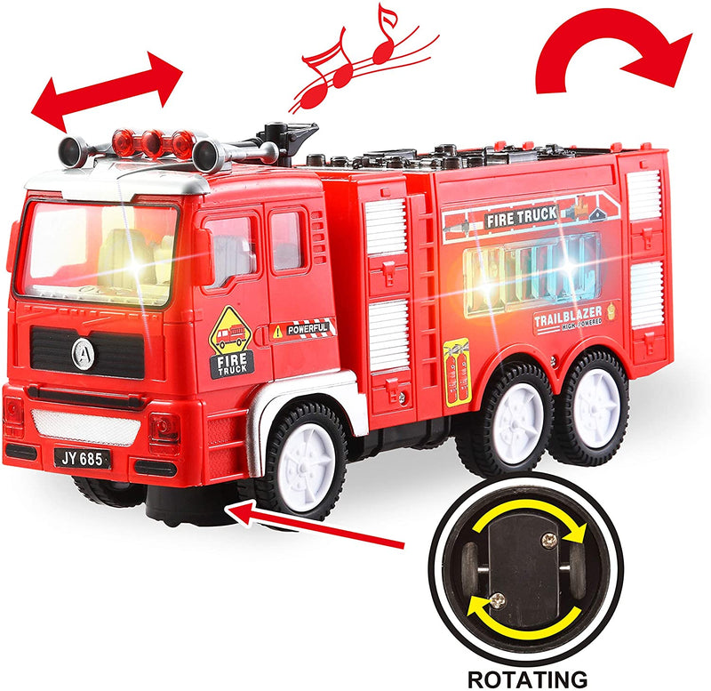 3 in 1 City Heroes Auto Moving-Around Siren Car Toys