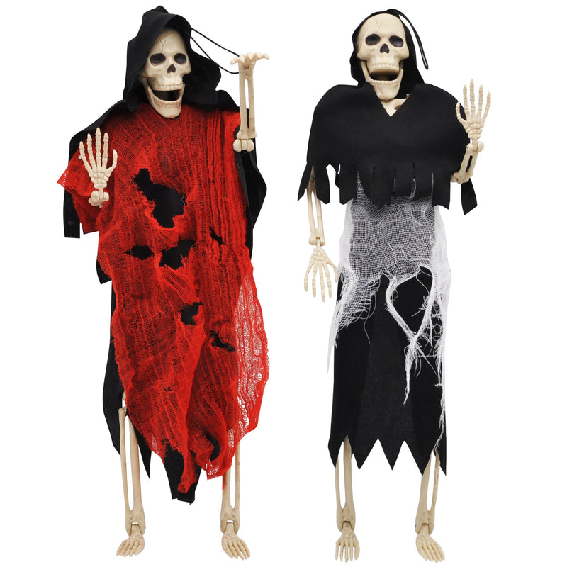 2 Pcs Poseable Grim Reaper Full Body Skeleton