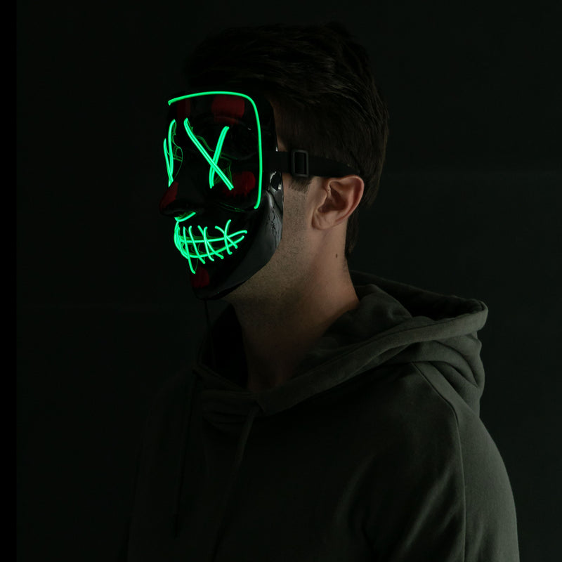 2 Pcs Halloween Led Masks