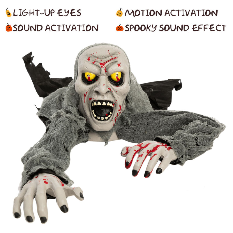 Halloween Light-Up Zombie Groundbreaker Animated