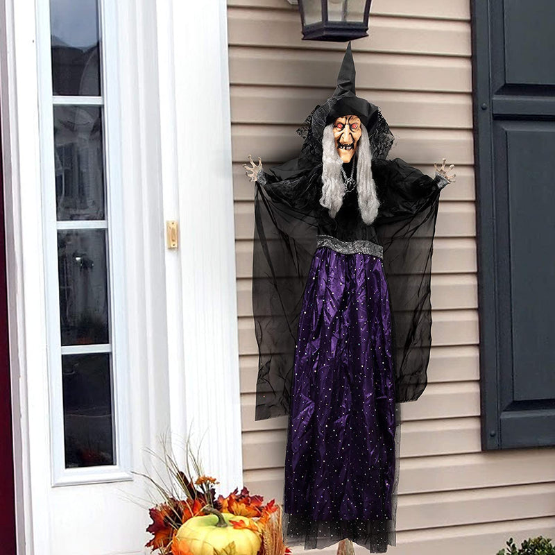 "47"" Animated Hanging Witch"