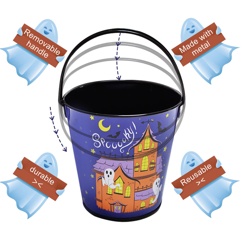 12 Pcs Halloween Trick-or-Treat Buckets