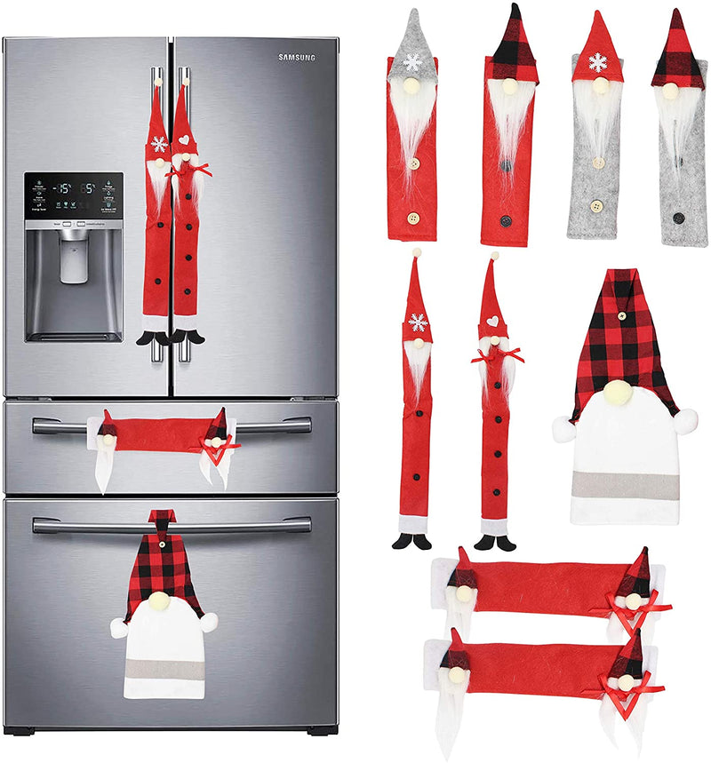 9 Packs Gnome Christmas Refrigerator Handle Set