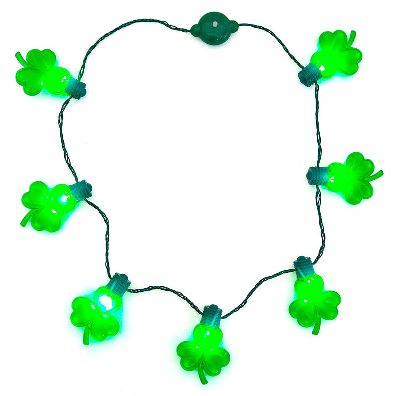 St. Patrick's Day LED Shamrock Necklace