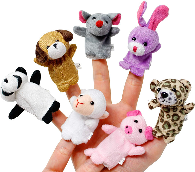 28 Packs Valentines Day Gift Cards with Animal Finger Puppet Set