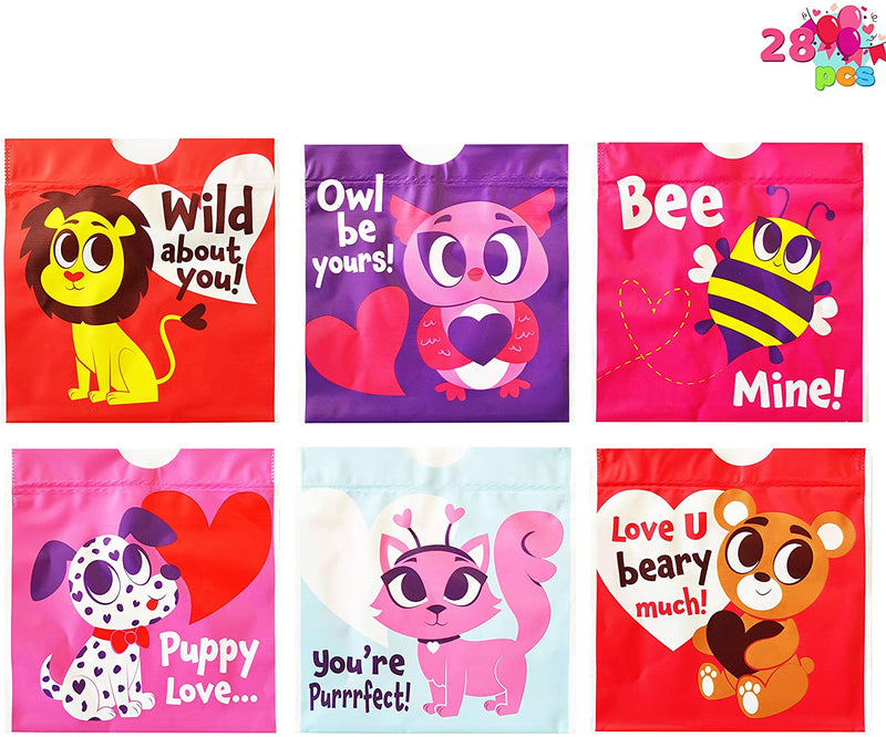 168 Pcs Valentine Stationary Set with Drawstring Treat Bags