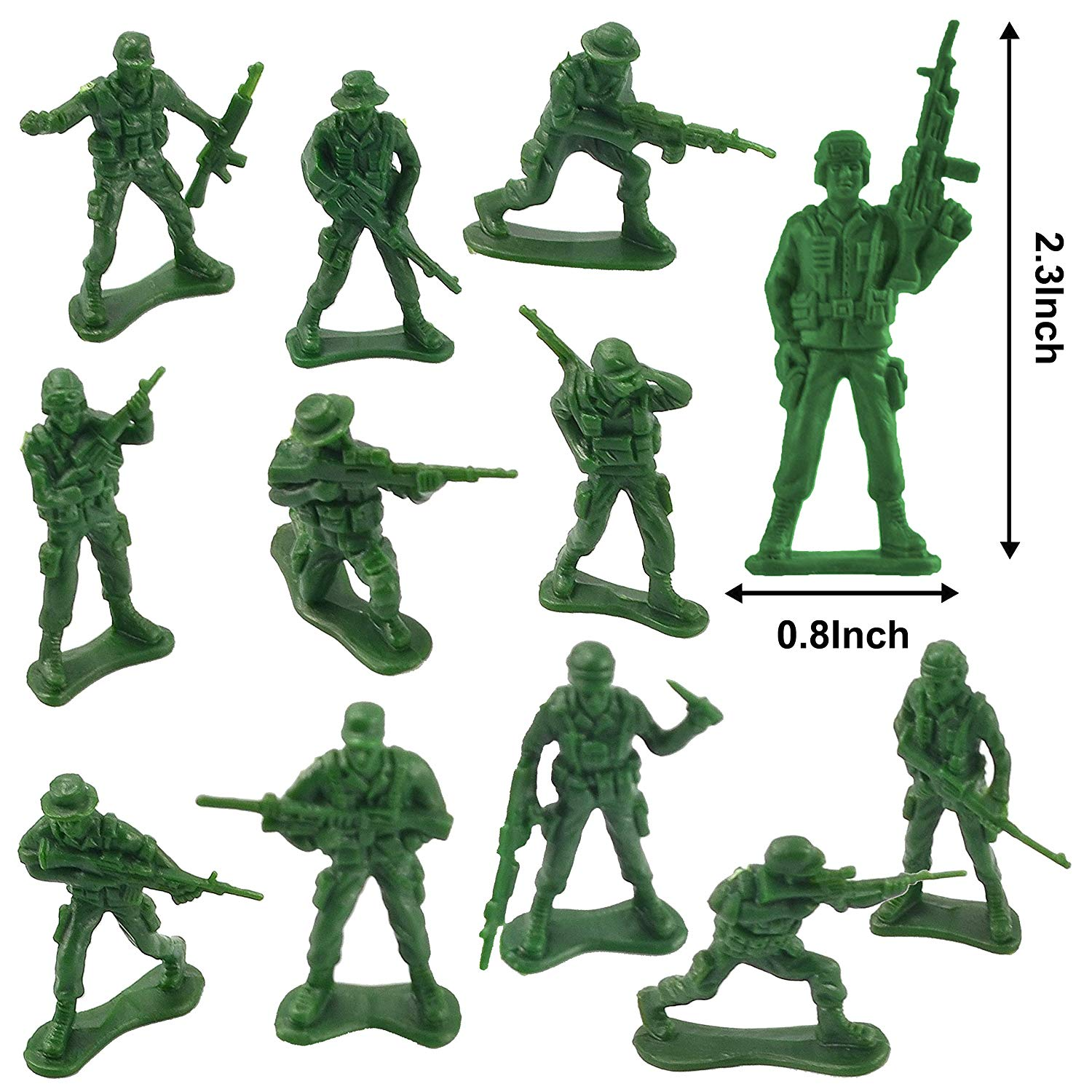 Easter Eggs with Army Men Action Figures