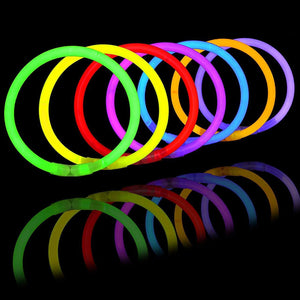 "400"" Glowsticks Glow Bracelets Glow Necklaces Party Favors Pack"