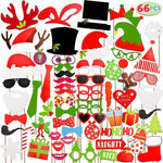 Christmas Photo Booth Props for Parties and Events, 66 Pieces