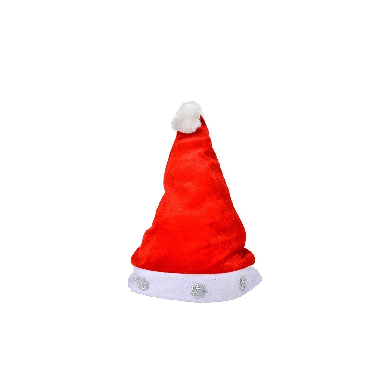 1 Dozen Fancy Santa Hats with 1 Dozen Jingle Bell Necklaces