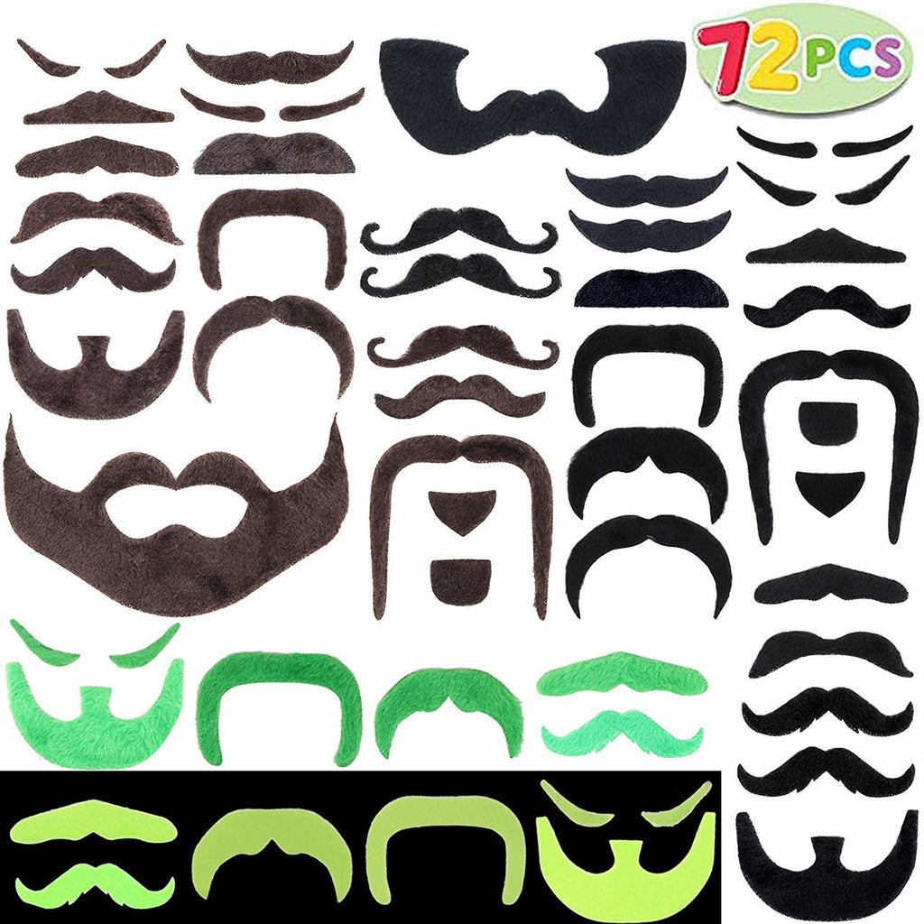 Fake Mustaches 72-Piece Set