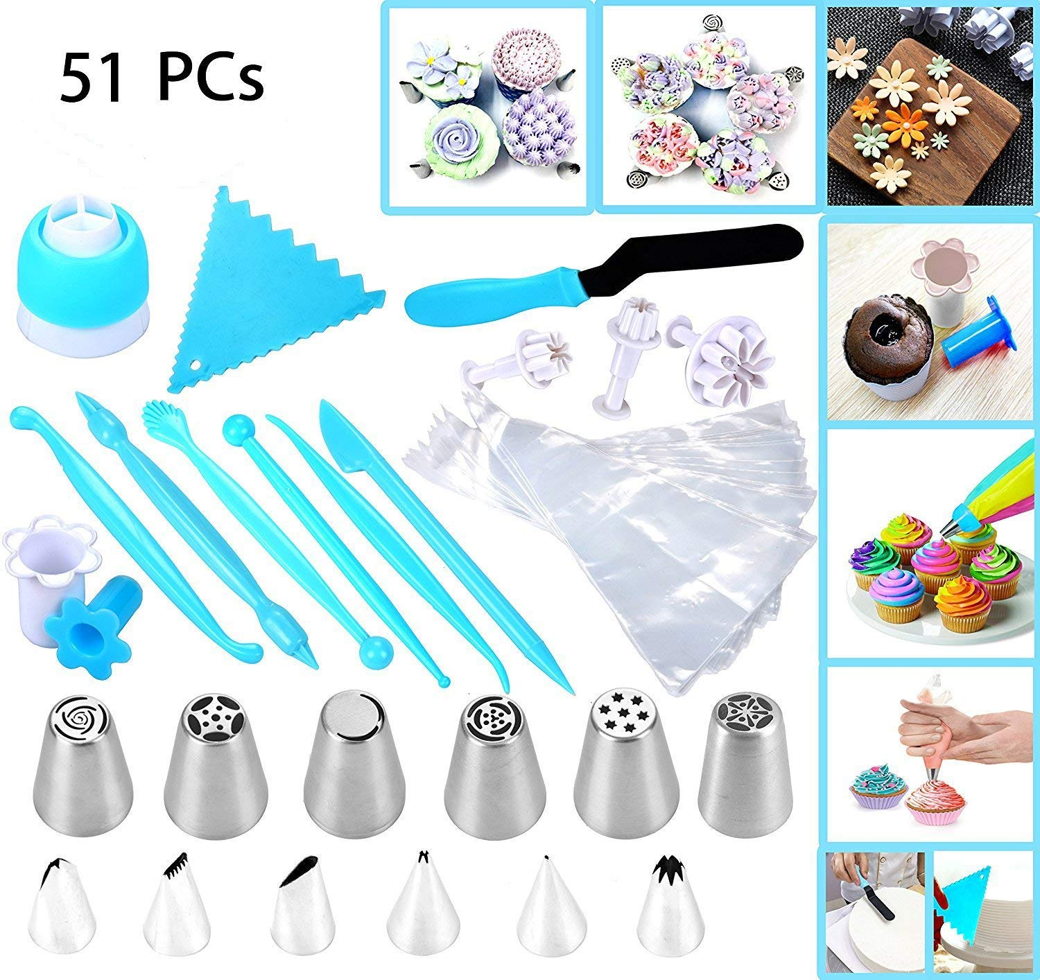 51-Piece Cake Icing and Decorating Kit