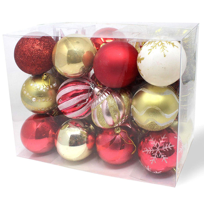 36-PACK CHRISTMAS ORNAMENTS