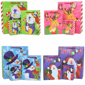 36 Pieces Christmas Bags Set with Wrapping Papers and Tissue Paper