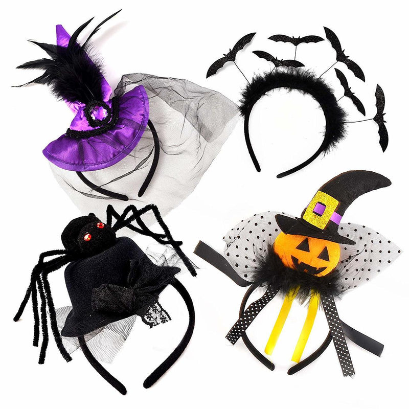 Set of 4 Happy Halloween Headbands