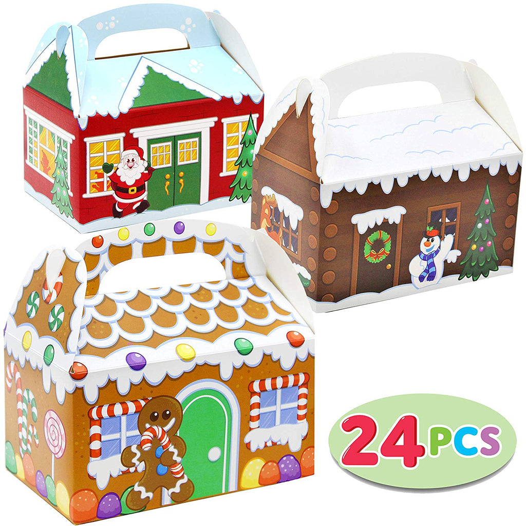 Christmas House Cardboard Treat Boxes