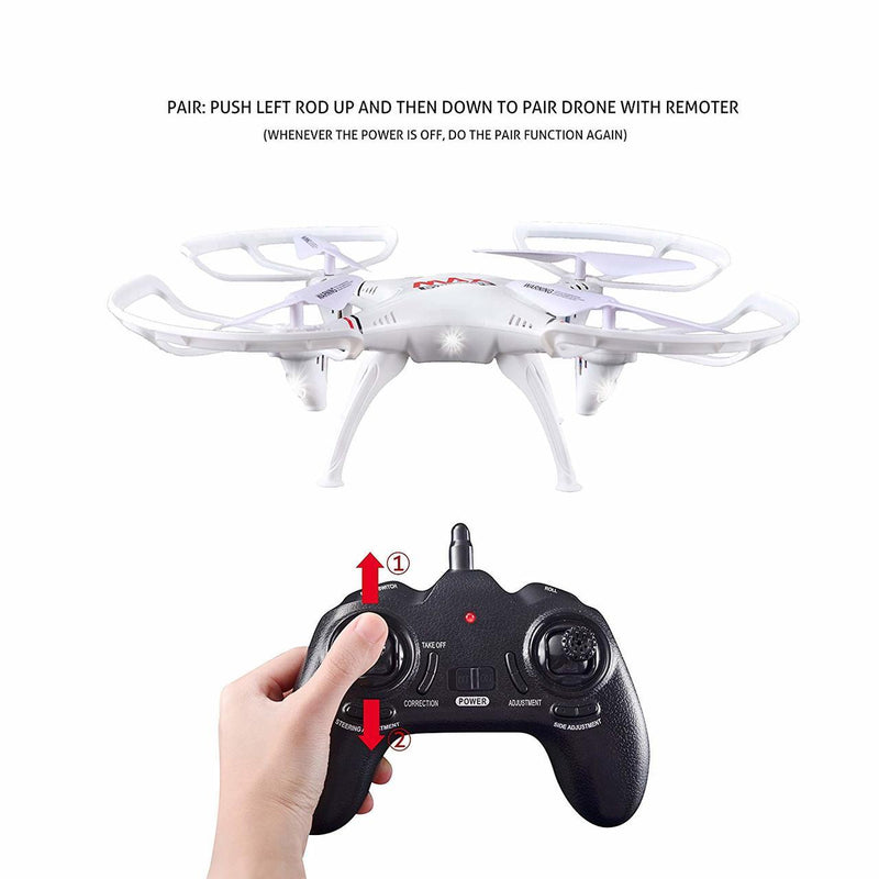 RC Helicopter Drone Quadcopter 2.4 Ghz 6-Axis Gyro 4 Channels with Altitude Hold Best Choice for Drone starter Training