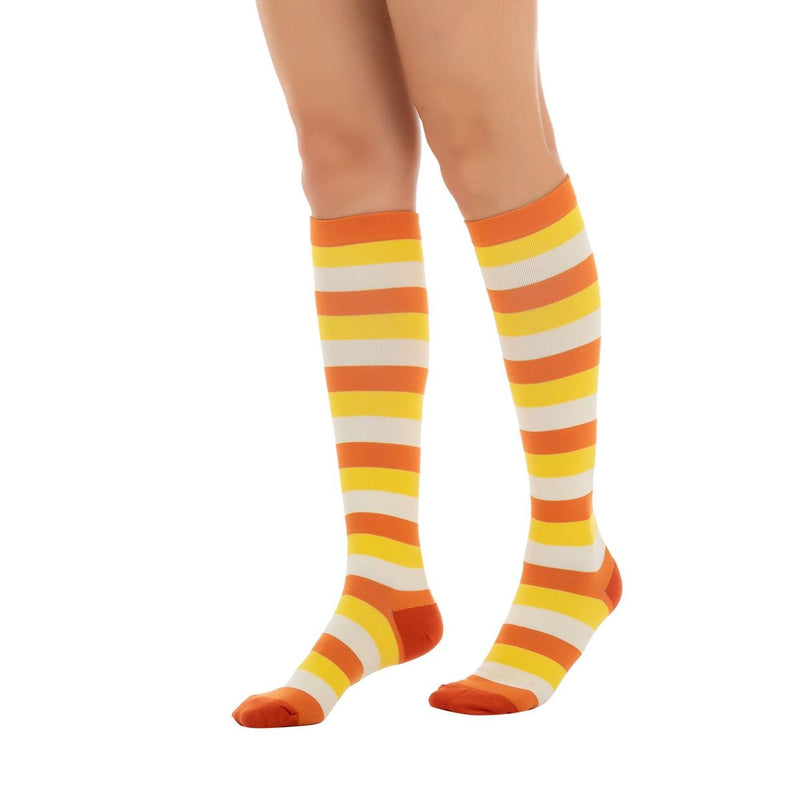 3-Pack Candy Corn Style Compression Socks