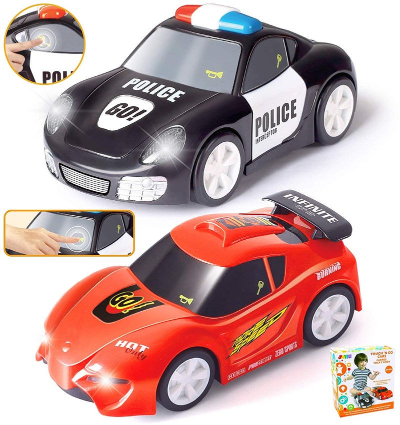 2 PIECES ELECTRONIC INFANT TOY CARS