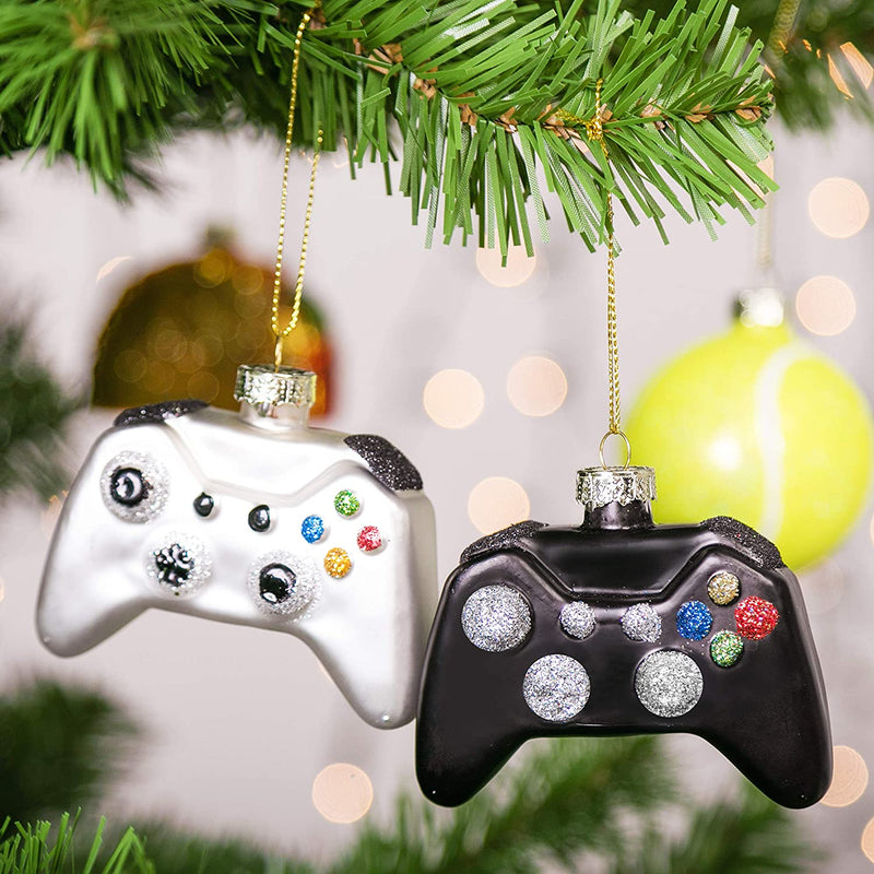 Christmas Tree Game Controller Ornament Decoration Black and White