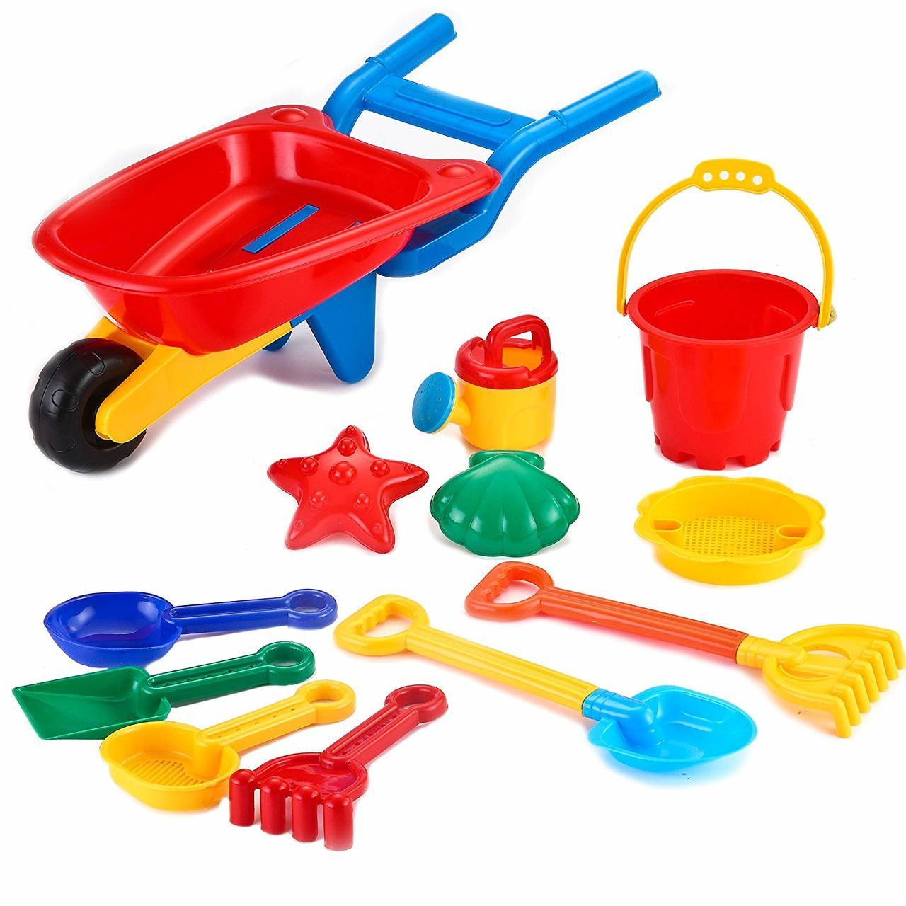 Beach Toy with Trolley Cart 12-Piece Set