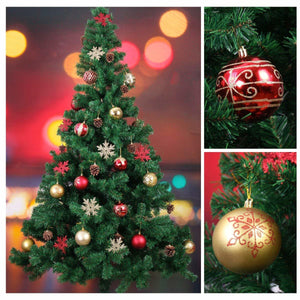 "Red & Gold Ball and Star 3"" Ornaments, 25-Pack"