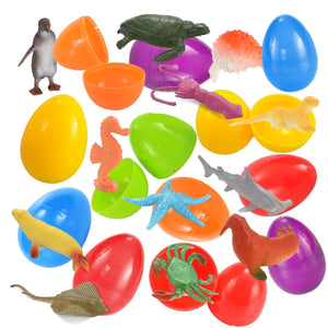 Pre-Filled Easter Eggs (Animal Friends), 48-Pack
